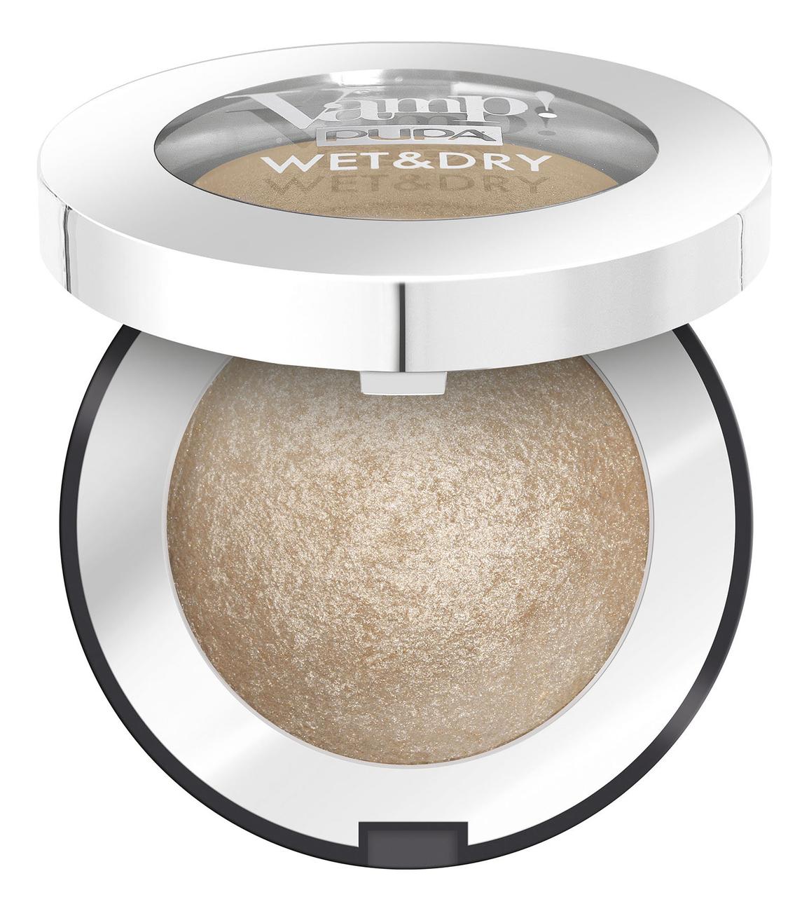 Запеченные тени для век Vamp! Wet & Dry Eyeshadow 1г: 100 Champagne Gold