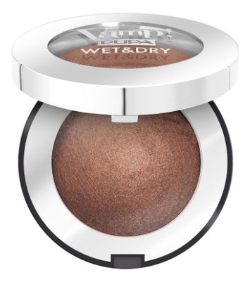 Запеченные тени для век Vamp! Wet & Dry Eyeshadow 1г: 105 Warm Brown pupa retro illusion eyeshadow