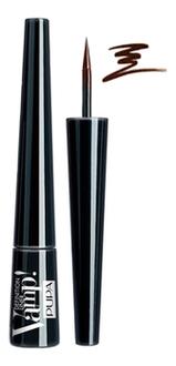 Подводка для глаз с фетровым аппликатором Vamp Definition Liner 2,5мл: 200 Коричневый pupa подводка для глаз vamp definition liner оттенок 100 extrablack