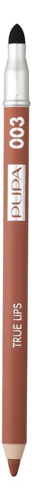 Фото - Карандаш для губ с аппликатором True Lips Pencil 1,2г: 003 Golden Buiscuit pupa карандаш true eyebrow pencil оттенок 003 dark brown