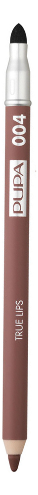Фото - Карандаш для губ с аппликатором True Lips Pencil 1,2г: 004 Plain Brown pupa карандаш true eyebrow pencil оттенок 003 dark brown