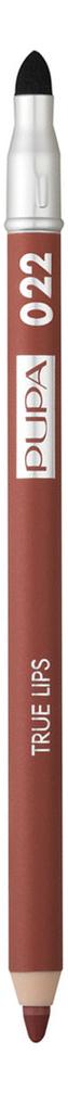 Фото - Карандаш для губ с аппликатором True Lips Pencil 1,2г: 022 Plum Brown pupa карандаш true eyebrow pencil оттенок 003 dark brown