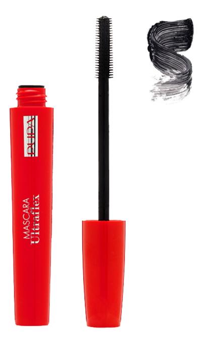 Тушь для ресниц подкручивающая и удлиняющая UltraFlex 10мл (без упаковки): 01 Черная pupa тушь для ресниц ultraflex mascara 01 черный
