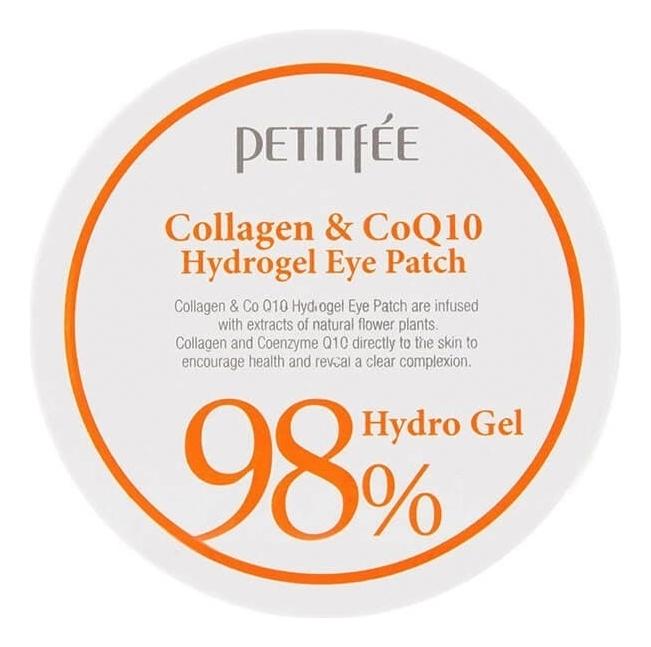 Гидрогелевые патчи для области вокруг глаз Collagen & CoQ10 98% Hydro Gel Eye Patch 60шт