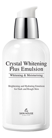 Осветляющая эмульсия для лица против пигментации Crystal Whitening Plus Emulsion 130мл недорого