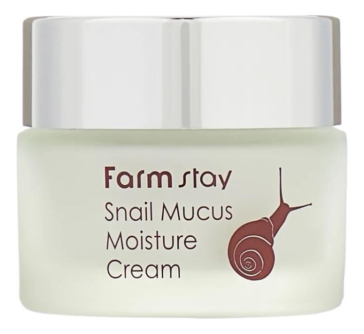 Купить Увлажняющий крем для лица с муцином улитки Snail Mucus Moisture Cream 50г, Farm Stay