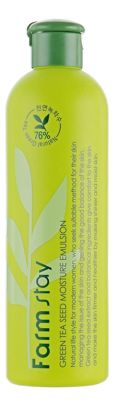 Купить Увлажняющая эмульсия для лица с семенами зеленого чая Green Tea Seed Moisture Emulsion 300мл, Farm Stay