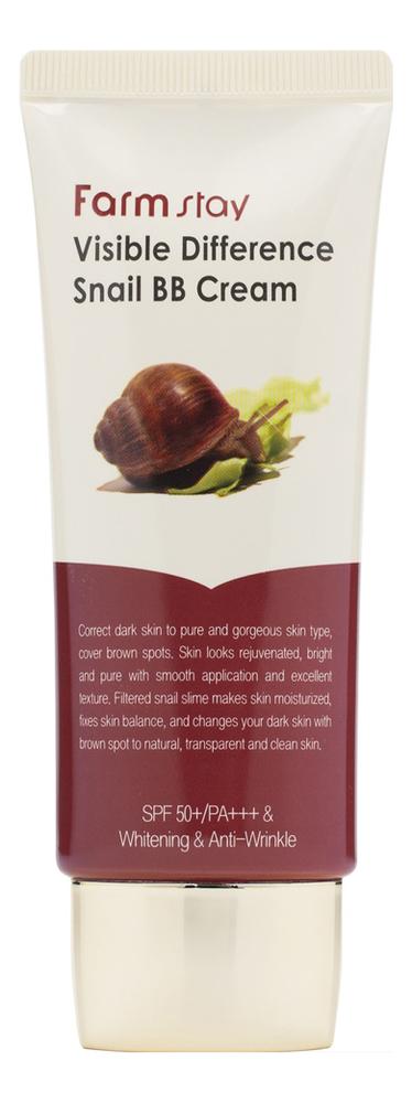 Купить Восстанавливающий BB крем для лица с муцином улитки Visible Difference Snail BB Cream SPF40 PA++ 50г, Farm Stay