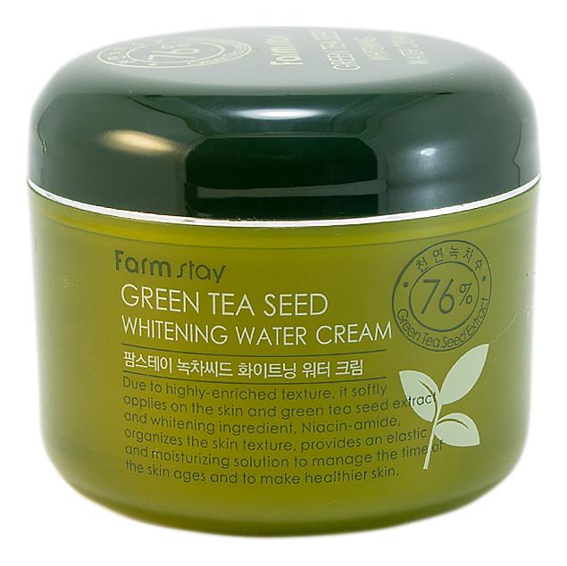 Увлажняющий осветляющий крем для лица с экстрактом зеленого чая Green Tea Seed Whitening Water Cream 100г цена 2017