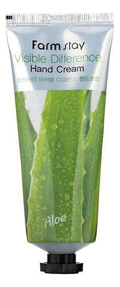 Крем для рук с натуральным экстрактом алоэ Visible Difference Aloe Hand Cream 100мл недорого