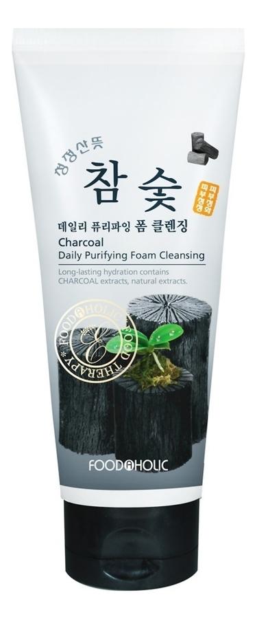 Купить Пенка для умывания Charcoal Daily Purifying Foam Cleansing 180мл (древесный уголь), FoodaHolic
