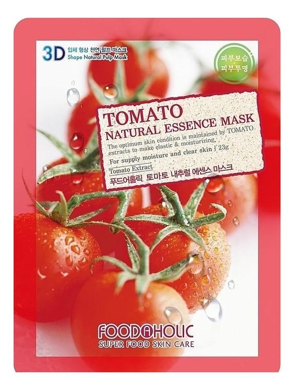 Тканевая 3D маска с экстрактом томата Tomato Natural Essence 3D Mask 23г, FoodaHolic  - Купить