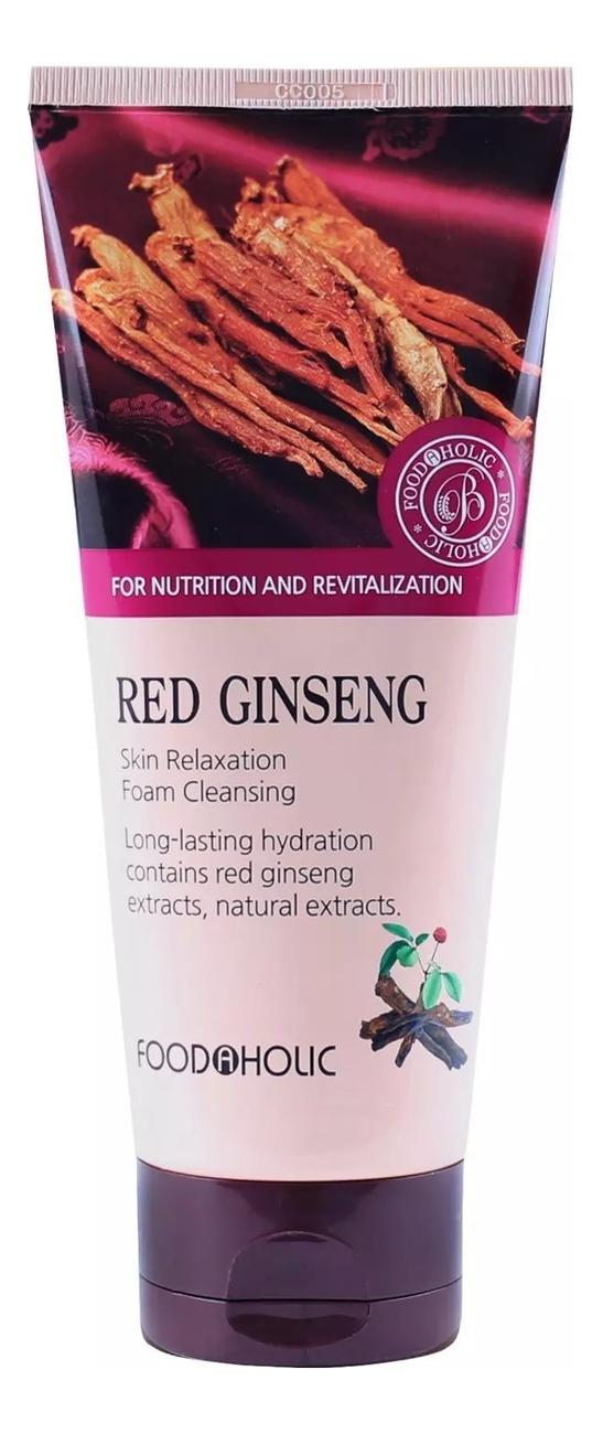 Пенка для умывания Red Ginseng Skin Relaxing Foam Cleansing 180мл (экстрактом красного женьшеня)