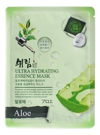 Увлажняющая тканевая маска с натуральным экстрактом алоэ Hydrating Essence Mask Aloe 25мл тканевая маска для лица с экстрактом алоэ вера real essence mask pack aloe 25мл