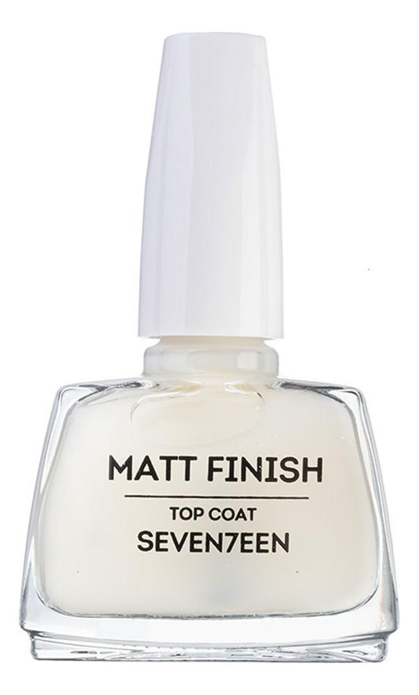 Верхнее закрепляющее покрытие с матовым эффектом Matt Finish Top Coat 12мл верхнее покрытие гель для ногтей super gel top coat 12мл