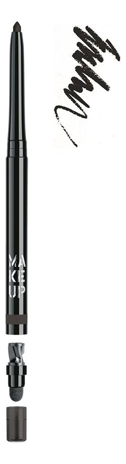 Автоматический контурный карандаш для глаз Automatic Eyeliner 0,31г: 01 Black Velvet make up factory карандаш для