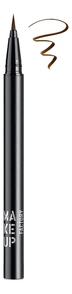 Купить Жидкая подводка для глаз Calligraphic Eye Liner 0, 55г: 05 Brown, MAKE UP FACTORY