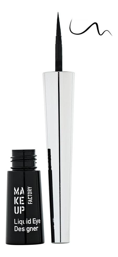 Купить Жидкая подводка для глаз Liquid Eye Designer 2, 5г: 01 Black, MAKE UP FACTORY