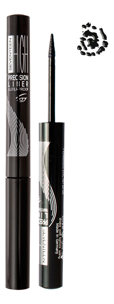 Подводка для глаз High Precision Waterproof Liquid Eye Liner 1,8мл: 01 Carbon Black