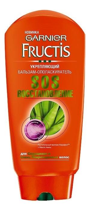 Купить Укрепляющий бальзам-ополаскиватель для волос SOS Восстановление Fructis: Бальзам-ополаскиватель 200мл, GARNIER