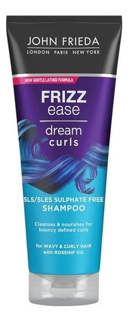Шампунь для волнистых и вьющихся волос Frizz Ease Dream Curls Shampoo 250мл lee stafford here come the curls shampoo кондиционер для вьющихся волос