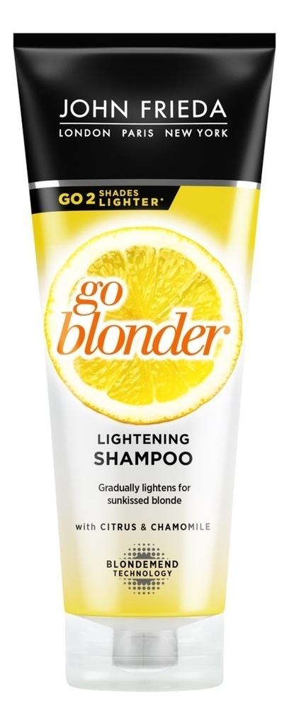 Купить Шампунь для волос осветляющий Sheer Blonde Go Blonder Lightening Shampoo 250мл, JOHN FRIEDA