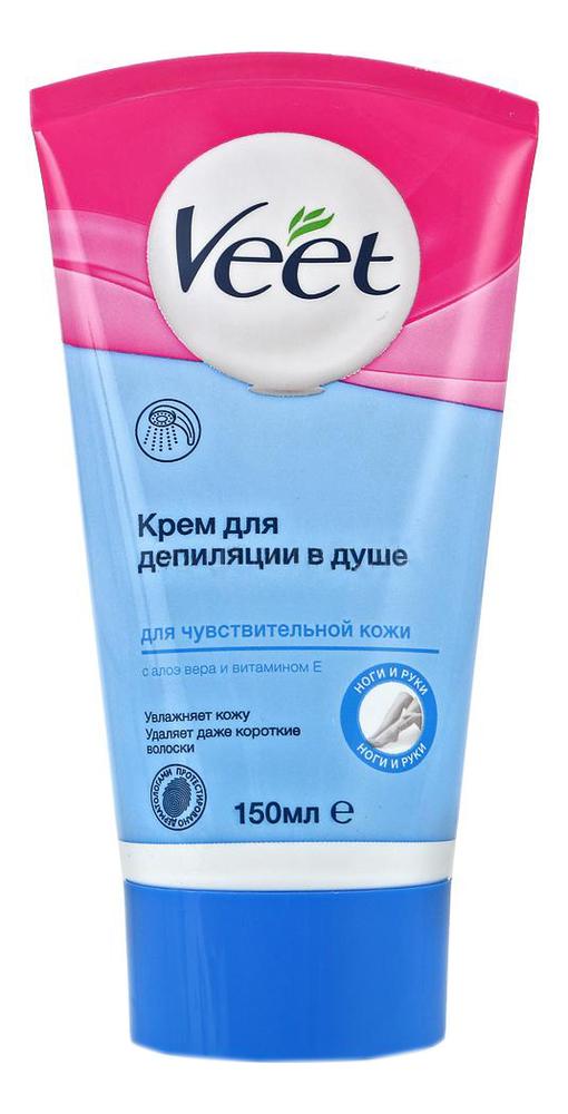 Купить Крем для депиляции в душе для чувствительной кожи 150мл, Veet