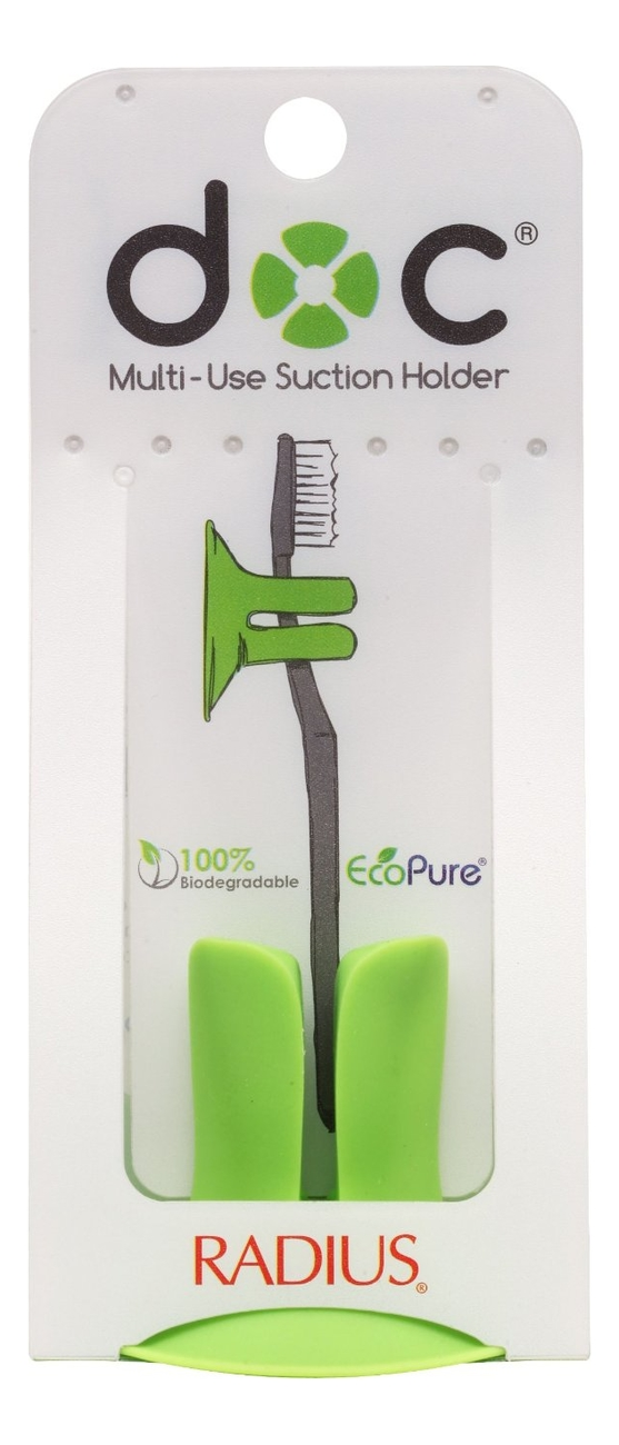 Подставка для зубных щеток Multi-Use Suction Holder (зеленая)