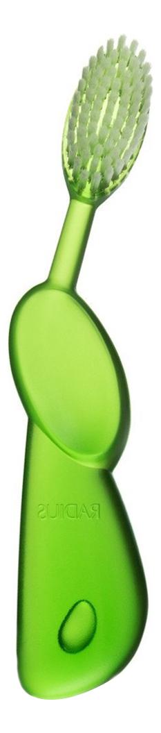 Классическая зубная щетка Toothbrush Original (для левшей, мягкая, зеленая) radius toothbrush original зубная щетка мягкая классическая для левшей фиолетовая