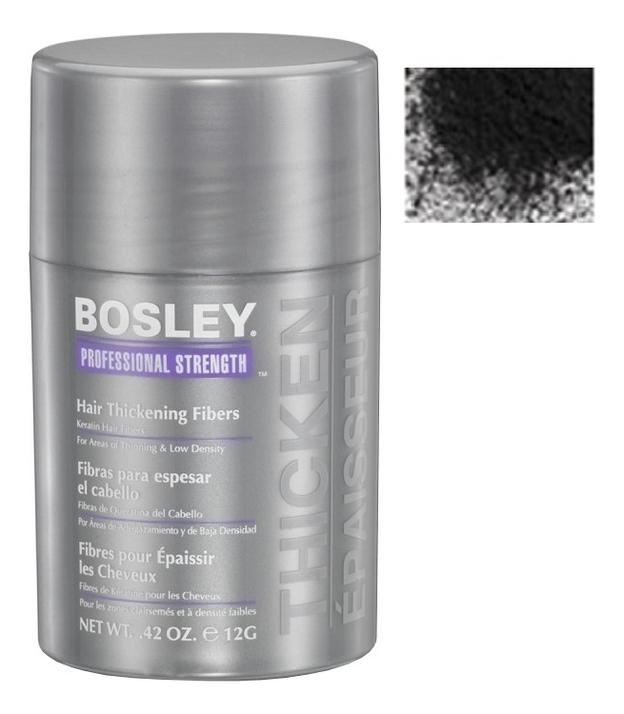Кератиновые волокна Hair Thickening Fibers 12г: Черные