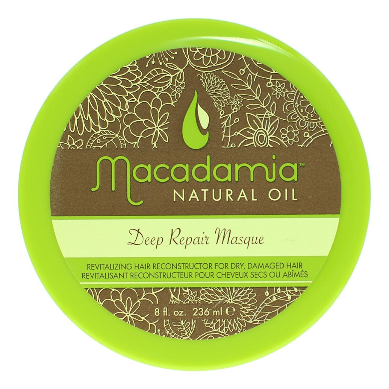Купить Маска для волос с маслом арганы и макадамии восстанавливающая Deep Repair Masque: Маска 236мл, Macadamia