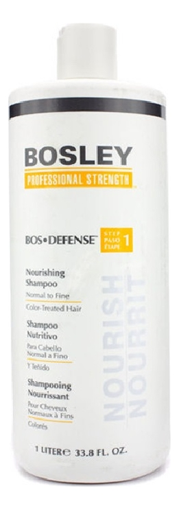 Купить Шампунь для нормальных и тонких окрашенных волос Bos Defense Nourishing Shampoo Normal To Fine Color-Treated Hair: Шампунь 1000мл, Bosley