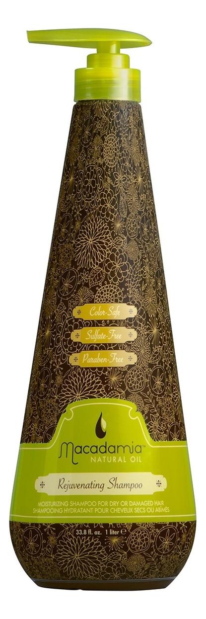 Восстанавливающий шампунь с маслом арганы и макадамии Rejuvenating Shampoo: Шампунь 1000мл косметика для мамы macadamia natural oil шампунь восстанавливающий с маслом арганы и макадамии 60 мл