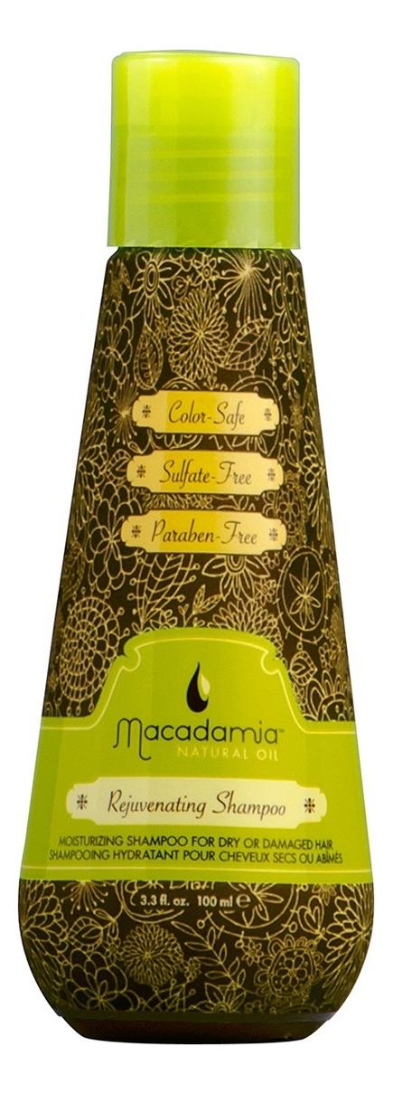 Восстанавливающий шампунь с маслом арганы и макадамии Rejuvenating Shampoo: Шампунь 100мл косметика для мамы macadamia natural oil шампунь восстанавливающий с маслом арганы и макадамии 60 мл