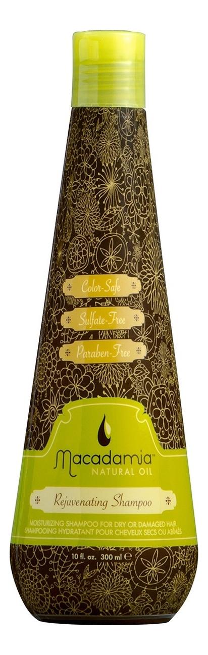 Восстанавливающий шампунь с маслом арганы и макадамии Rejuvenating Shampoo: Шампунь 300мл косметика для мамы macadamia natural oil шампунь восстанавливающий с маслом арганы и макадамии 60 мл