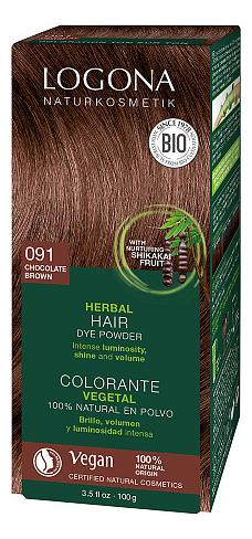 Растительная краска для волос Herbal Hair Colour 091 Chocolate Brown 100г