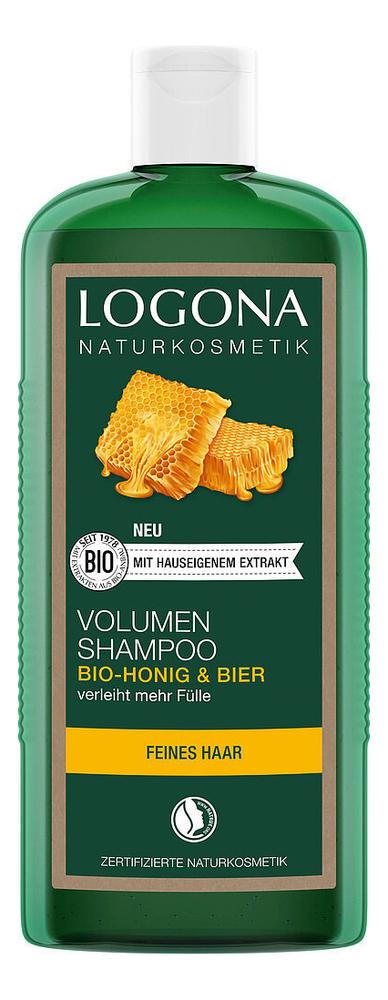 Купить Шампунь для объема с медом и пивом Volume Shampoo Beer & Bio Honey: Шампунь 250мл, Шампунь для объема с медом и пивом Volume Shampoo Beer & Bio Honey, Logona