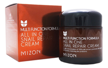 Mizon Крем для лица с муцином улитки 92% Multi Function Formula All In One Snail Repair Cream 75мл