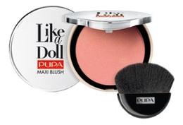Румяна компактные Like A Doll Maxi Blush 9,5г: 201 Apricot Nude