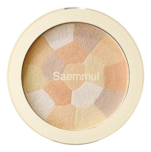 Хайлайтер минеральный Saemmul Luminous Multi Highlighter 8г: 02 Gold Beige, The Saem  - Купить