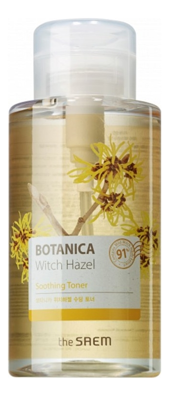 Купить Тоник для лица Botanica Witch Hazel Soothing Toner 400мл, The Saem