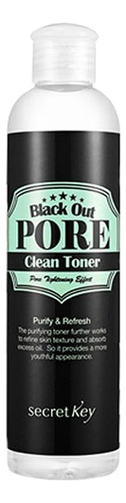 Тонер с древесным углем для очищения и сужения пор Black Out Pore Clean Toner 250мл