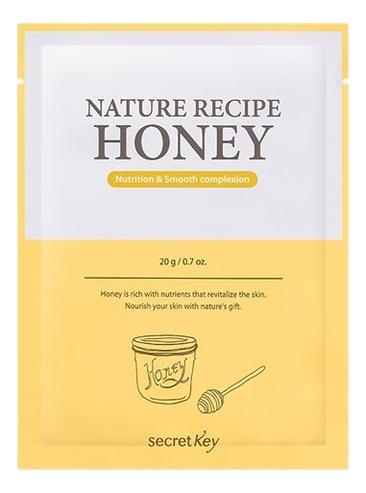 Тканевая маска с медом Nature Recipe Honey Mask Pack 20г маскапатч с лифтинг эффектом triple fit lifting patch 20 г secret key mask pack