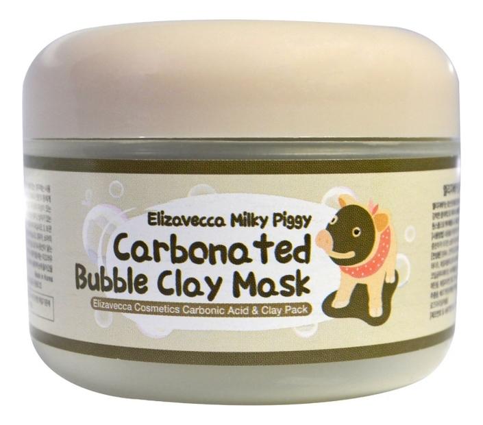 Маска для лица глиняно-пузырьковая Milky Piggy Carbonated Bubble Clay Mask 100г urban dollkiss глиняно пузырьковая маска с угольным порошком carbonated bubble charcoal clay mask 100 мл
