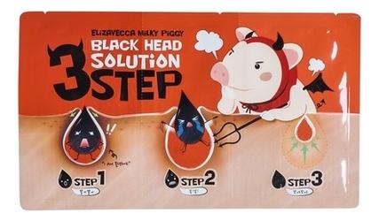 Фото - Патчи для удаления черных точек Milky Piggy Black Head Solution 3 Step Nose Strip: Патчи 6г пластыри от черных точек mj care 3 step koala nose clear solution 7г