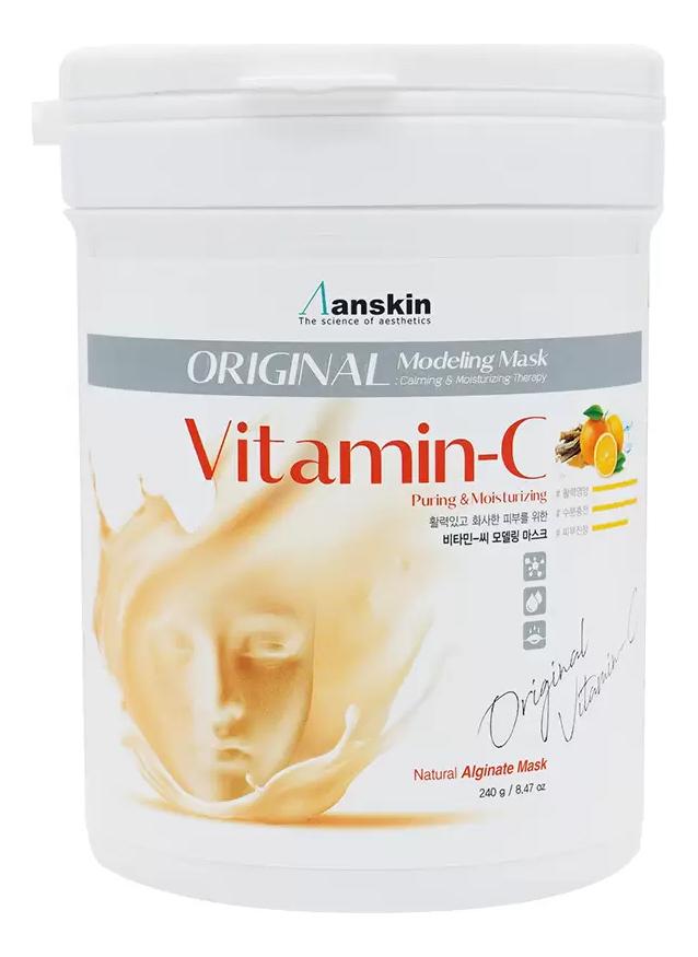 Фото - Маска альгинатная с витамином С Vitamin-C Modeling Mask 240г: Маска 240г альгинатная маска ellevon с витамином с 1000гр