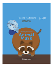 Berrisom Маска тканевая с экстрактом плаценты Animal Mask Series Raccoon 25мл