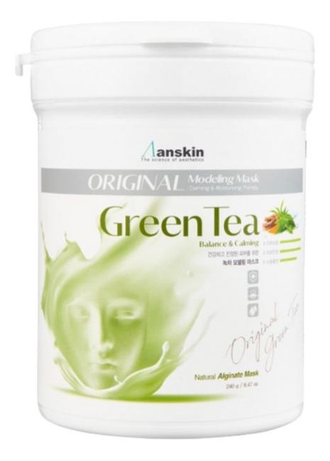 Маска альгинатная с экстрактом зеленого чая Green Tea Modeling Mask 240г: Маска 240г маска альгинатная с экстрактом зеленого чая саше anskin green tea modeling mask refill 25гр