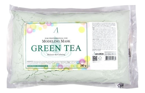 Маска альгинатная с экстрактом зеленого чая Green Tea Modeling Mask Refill 240г: Маска 240г (запасной блок) недорого