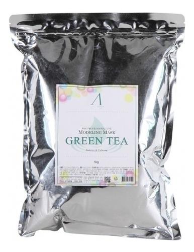Купить Маска альгинатная с экстрактом зеленого чая Green Tea Modeling Mask Refill 1кг: Маска 1000г (запасной блок), Anskin